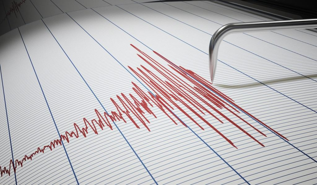 Earthquake seismograph photo
